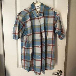 Other - Breezy Plaid Button down shirt
